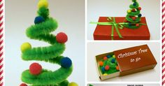 Your kids will have fun to make these mini Christmas trees (about 6 cm tall)! What you need: pipe cleaner mini neon poms or sma...