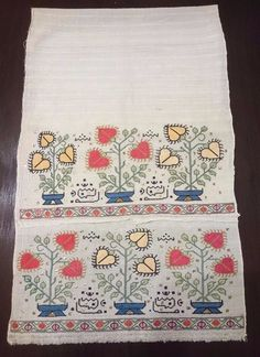 Authentic Antique Embroidered Ottoman Towel metallic silver 19th century. Gauzy Linen Embroidered with Flowers. Width : 450 mm. | eBay!