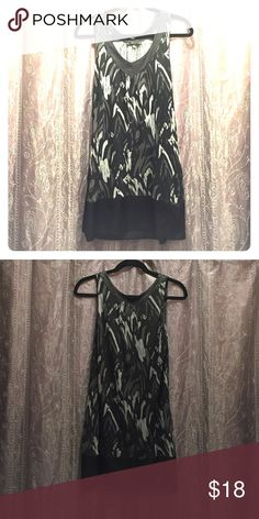 Black & gray summer dress Short black / gray summer dress w/ pockets. Satin trim around the bottom & neck. Great condition!!! Express Dresses