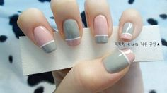 For those of you who like to do nail art. I do my nails typically 2 to 4 times a week depending on my mood, how busy I am, or if I get new. Nail Art Cute, Grey Nail Art, Gray Nails, Love Nails, Pink Nails, How To Do Nails, Pretty Nails, White Nails, Pastel Nails