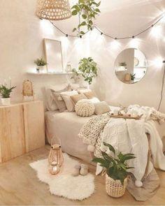 Room Design Bedroom, Room Ideas Bedroom, Bedroom Inspo, Cute Bedroom Decor, Decor Room, Master Bedroom, Bedroom Bed, Bedroom Decor Natural, Ideas For Bedrooms