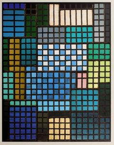 Josef Albers window. - would make a great block quilt. Small squares of jewel tones would be perfect!