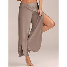 60c1a4a86a1b MAYUAN520 Women Summer Wide Leg Pants High Waist Elastic Breathable Quick  Dry Running Fitness Dancing Yoga