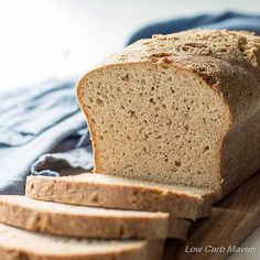 The Best Low Carb Keto Psyllium-Flax Bread via @lowcarbmaven