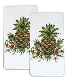 Love this Pineapple Dish Towel - Set of Two by Kay Dee Designs on #zulily! #zulilyfinds. $9,49