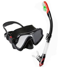 Top snorkeling gears dive mask dry snorkel set tempered glass scuba mask summer vacation diving swimming gears for audlt diving #Affiliate