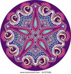 Set In A Metallic Color Mandalas Stock Vector Illustratie: 106288943 : Shutterstock