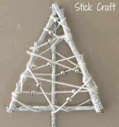 DIY Vintage yarn wrapped twig Christmas tree // Különleges vintage karácsonyfa faágakból egyszerűen // Mindy - craft tutorial collection // #crafts #DIY #craftTutorial #tutorial #ChristmasCrafts #Christmas #Karácsony