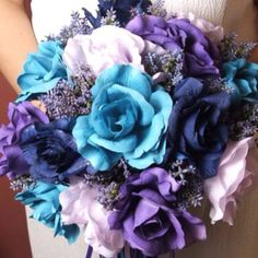 Bouquet of blue and purple