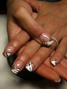 Coline nails nails, gel nails и french nail designs French Nails, Ongles Gel French, French Nail Designs, Black Nail Designs, Gel Nail Designs, Nails Design, Nagel Tattoo, Uñas Fashion, Nagel Hacks