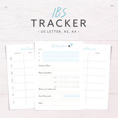 Symptoms Tracker Printable for Health and by
