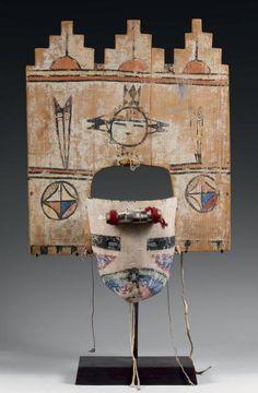 Très spéctaculaire Masque de Kachina PALHIK MANA Hopi, Arizona, U S A