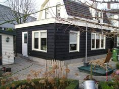 Home Projects, Home Crafts, Diy Home Decor, Diy Crafts, Shed Makeover, Bar Shed, Wooden Buildings, Black Exterior, Black House