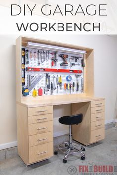 Woodworking Joinery Biscuit Joiner DIY Garage Workbench with Storage