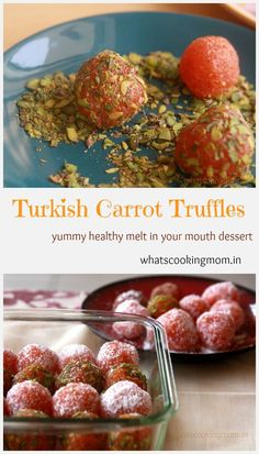 Turkish carrot truffles - yummy, easy to make, eggless desserts, winter foods, no baking