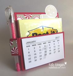 Kate Morgan, Independent Stampin Up! 3d Paper Crafts, Paper Gifts, Craft Gifts, Diy Gifts, Post It Note Holders, Craft Show Ideas, Desk Calendars, Scrapbooking, Craft Sale
