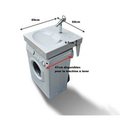 Space-saving washbasin fits above washing machine