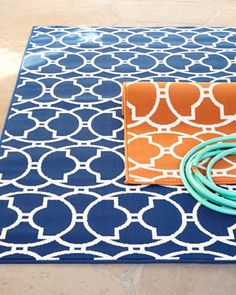 Baja Circles Indoor/Outdoor Rug at Horchow.
