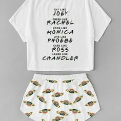 Friends Names Pajama - Official T-Shirt Store - Friends Names Pajama – Official T-Shirt Store - Cute Pajama Sets, Cute Pjs, Cute Pajamas, Friends Tv Show Apparel, Friends Merchandise, Girls Fashion Clothes, Teen Fashion Outfits, Outfits For Teens, Cute Lazy Outfits
