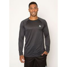 Settle for nothing short of greatness in the RBX Active Men's Lightweight Semi-fitted Crew Neck Long Sleeve Shirt. The X-Dri moisture-wicking technology dries sweat quickly to reduce chafing. The Ragl