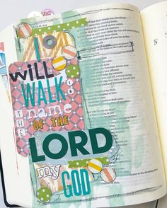 "No matter what others do I want my life to be marked by Christ! ""But we will walk in the name of the Lord our God."" Micah 4:5 #illustratedfaith #biblejournaling #ipaintinmybible"