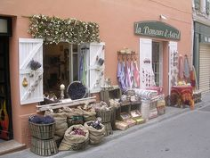 A GOOD SIGN The property market in France is likely to be boosted by the news that the country has come out of recession. Country Shop, Provence France, Retail Space, Old World Charm, Store Fronts, Interior And Exterior, Shop Windows, Happy Things, Wiccan