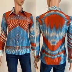 vintage 70/'s sparkly blue disco varsity sweater with metallic silver and ringer sleeve stripes  size xs