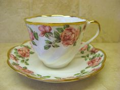 SALISBURY Bone China  Victoria Rose  Cup and by AntiqueAllice, $22.50