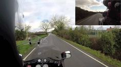 Old man on his Old motorbike looking into dangerous Vlogging
