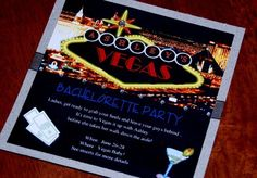 Vegas style Bachelorette Invites - With a lil bling :)