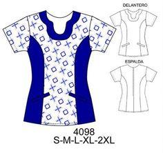 Delantales Scrubs Outfit, Scrubs Uniform, Corporate Uniforms, Kwik Sew Patterns, Frock Design, Medical Scrubs, Scrub Tops, Dressmaking, Sewing Projects