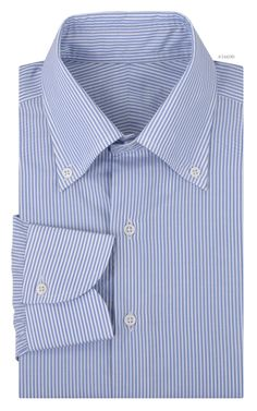 Luxire dress shirt constructed in Carlo Riva White Blue Dress Stripes: http://custom.luxire.com/products/plain-blue-white-vertical-dress-stripes-voile_tela_1156_04  Consists of custom made collar and a 1-button cuffs.