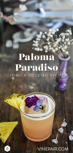 In this impossibly elegant take on the classic Paloma, cherry heering and fresh lime and pineapple juice complement tequila blanco.