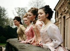 young maidens scurried to the balcony, giggling and blushing. They watched as the carriage pulled towards the castle. The count was here. Story Inspiration, Writing Inspiration, Character Inspiration, Barbie Movies, Princess Aesthetic, Poses, Pride And Prejudice, Period Dramas, Medieval