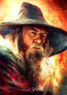 Mithrandir (Gandalf), by Five-OClock - The Hobbit Hobbit Art, O Hobbit, Legolas, Lord Of Rings, Jrr Tolkien, Middle Earth, Lotr, Fantasy Art, Fantasy Wizard
