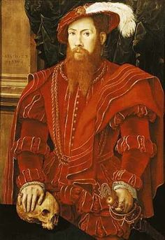 "Hans Eworth or Ewoutsz (wahrscheinlich) ""Portrait of a Gentleman of the English Court, 1546"" Doesn't this look a lot like Thomas Seymour, Lord Seymour Sudeley--1508-49?"