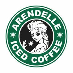 SVG Disney Starbucks arendelle iced coffee SVG Cut by Disney Diy, Disney Crafts, Cute Disney, Disney Magic, Disney Frozen, Disney Ears, Disney Stuff, Starbucks Logo, Disney Starbucks