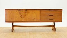 TEAK Credenza/ Drinks Cabinet with Wishbone Pulls