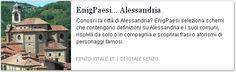 Comuni in provincia di #Alessandria inseriti come definizioni in schema enigmistico e cruciverba
