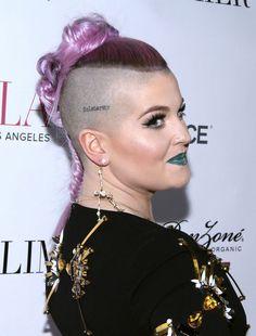 Michelle Lee, Kelly Osbourne, Half Shaved, Chokers, Hoop Earrings, Hair Styles, Wallpaper, Image, Fashion