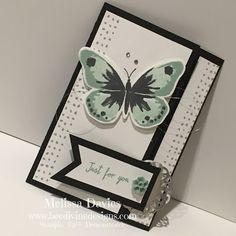 Watercolor wings.... Hand Made Greeting Cards, Making Greeting Cards, Butterfly Watercolor, Floral Watercolor, Largest Butterfly, Butterfly Cards, Stamping Up, Stampin Up Cards, Card Making