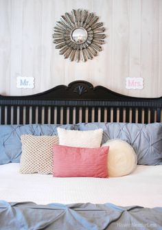 Mr. & Mrs. Bedroom Wood Signs - How to Nest for Less™