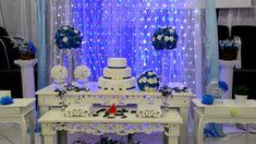 Resultado de imagem para decoraçao de casamento simples azul New Years Eve Party, Color Azul, Birthday Cake, Holiday Decor, Home Decor, Style, Navy Gray Wedding, Provence Wedding, Blue Nails