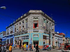 This is a view of one of the main streets in downtown Cárdenas. It is a municipality and city in the Matanzas Province of Cuba, about 109 miles east of Havana.
