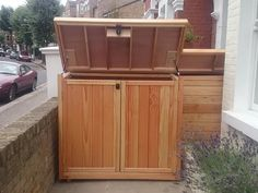 Would like to know about bike shed plans? Then here is definitely the right place! Garden Bike Storage, Bin Shed, Build Your Own Shed, Chest Freezer, Outdoor Cover, Wood Cladding, Building A Shed, Shed Plans, Storage Bins