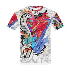 c008862f5 Jazz T shirt Cool Jazz Festival by Juleez All Over Print T-Shirt for Men