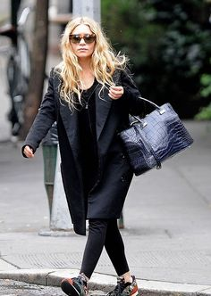 Ashley Olsen is seen out for a stroll in Soho, New York City