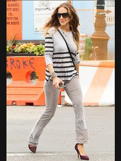 Star Tracks: Thursday, June 5, 2014 | EASY DOES IT | Sarah Jessica Parker makes a simple sweater and jeans look chic while stepping out in New York City on Wednesday.