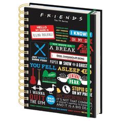 Friends Infographic A5 Hardback Notebook