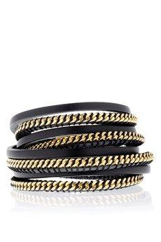 LK DESIGNS CHAIN Black Wrap Around Bracelet - ACCESSORIES | JEWELRY | Bracelets | PRET-A-BEAUTE.COM